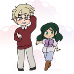 Chibis - Aster and Fox