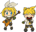 Rin And Len Chibis  by kabocha
