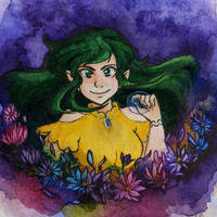Aster watercolor