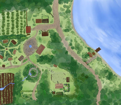 Lora Vern Town Map
