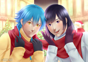 Aoba and Sei Xmas by Elle-Rei