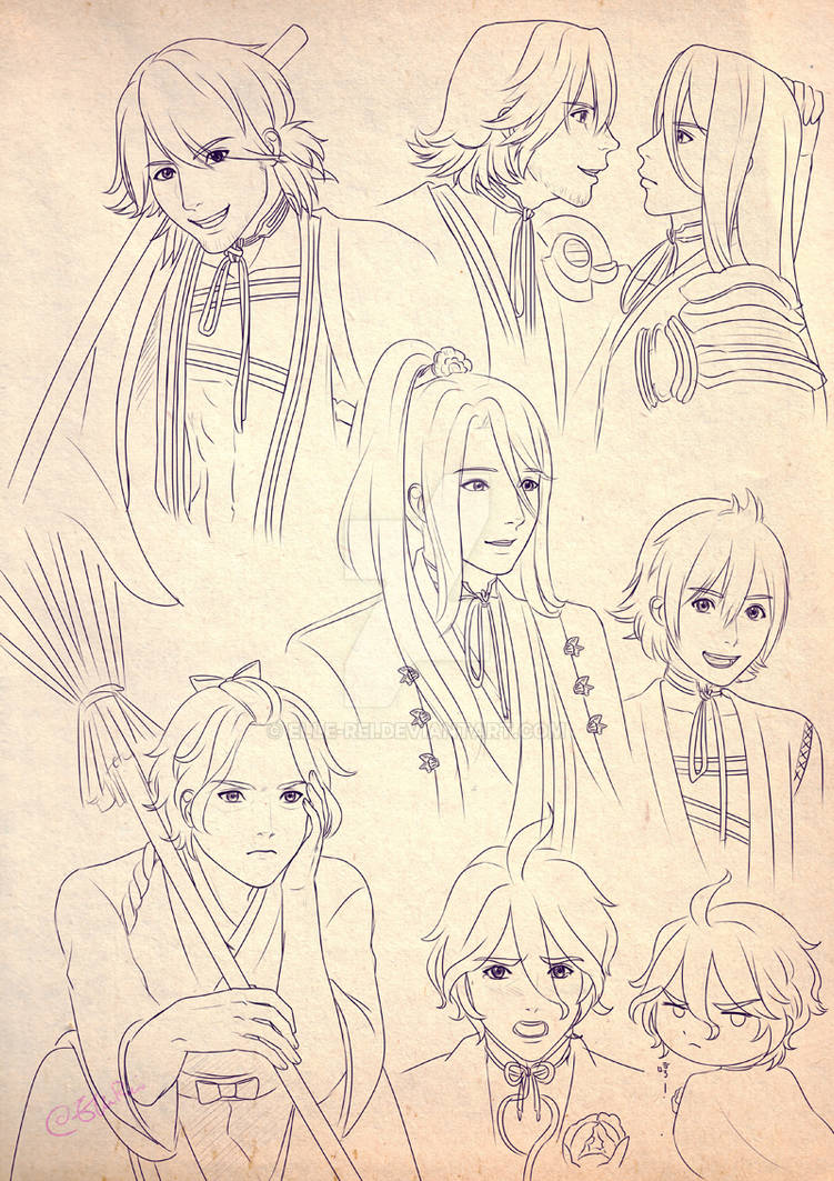 Sketch Page: Kotetsu brothers Kasen by Elle-Rei
