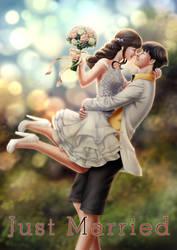 Just Married by Elle-Rei