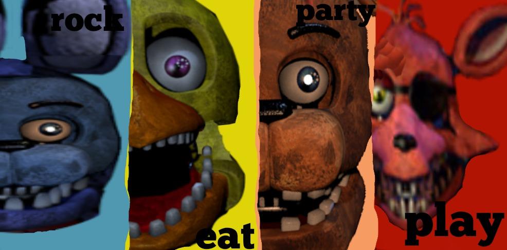 Fnaf Sfm Rock Eat Party Play Fnaf1 By – Dibujos Para Colorear