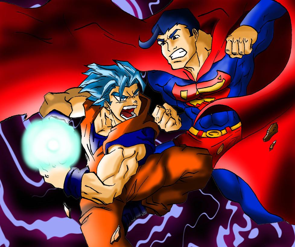 Goku Vs Superman by Rodriy