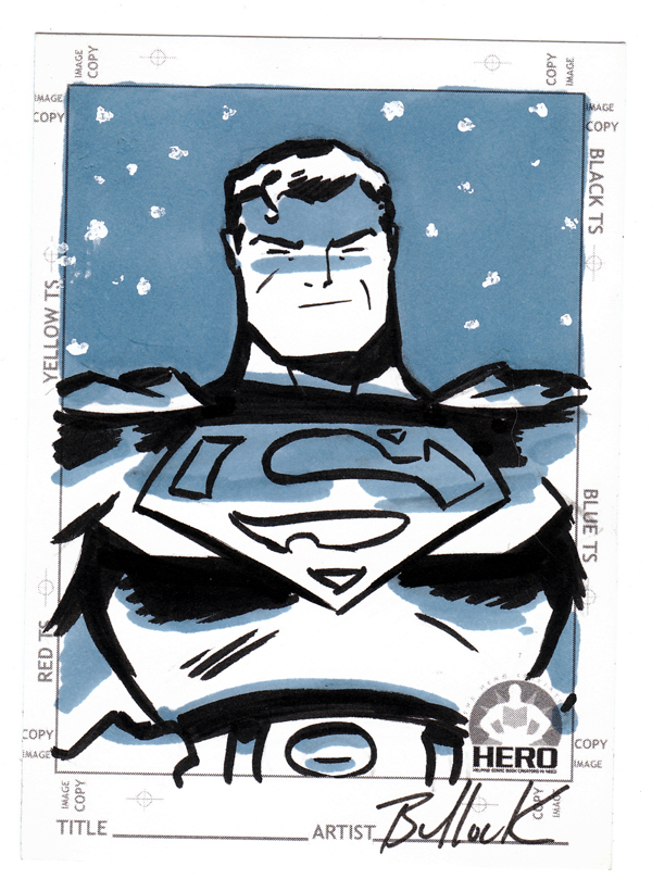 Superman HERO INITIATIVE card by DaveBullock