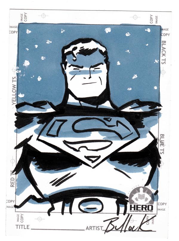 Superman HERO INITIATIVE card by DaveBullock