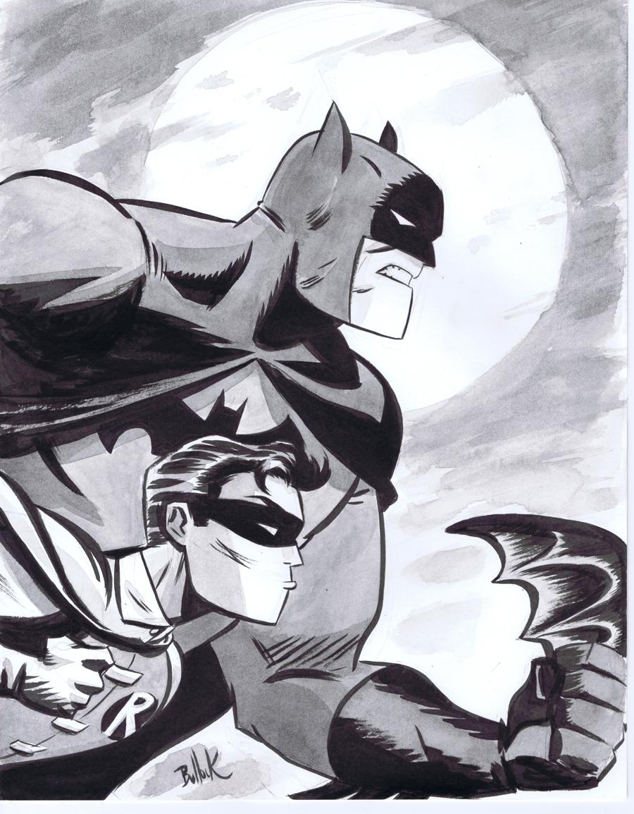 Philly Con 2011 BatMan+Robin 2 by DaveBullock