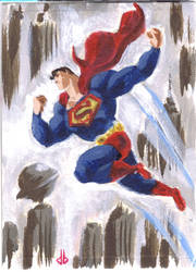 SuperDuperMan Card by DaveBullock