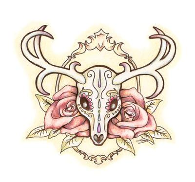 Sugar Deer Skull By Jessicadunn On Deviantart