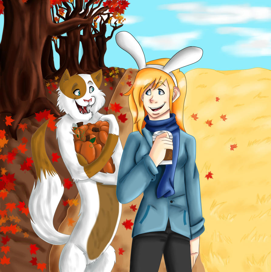 fionna and cake fall by freyamustdie on deviantart