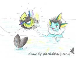 water_eevee by pitch-black-crow