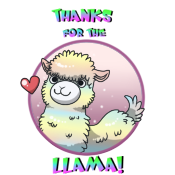 Sticker Llama by pitch-black-crow
