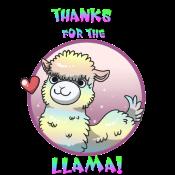 Sticker Llama by pitch-black-crow