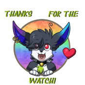 Sticker Blacky Watch by pitch-black-crow