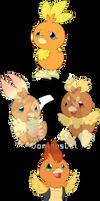 [Redraw] Torchic Variants
