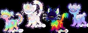 [Jellocats] Rainbow Madness Flatsale (CLOSED)