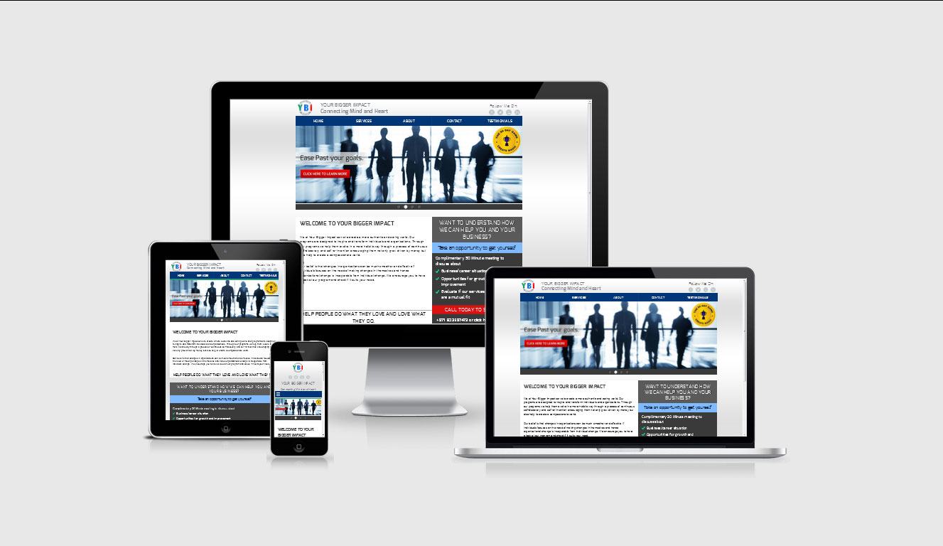 YOUR BIGGER IMPACT WEBSITE by shapemetal