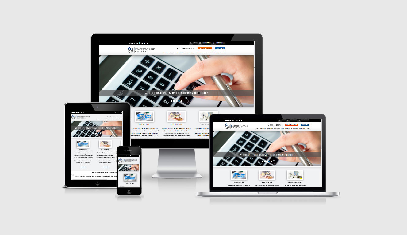 E Mortgage Capital Website by shapemetal