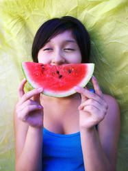 Watermelon Smile II by madness-lollipop
