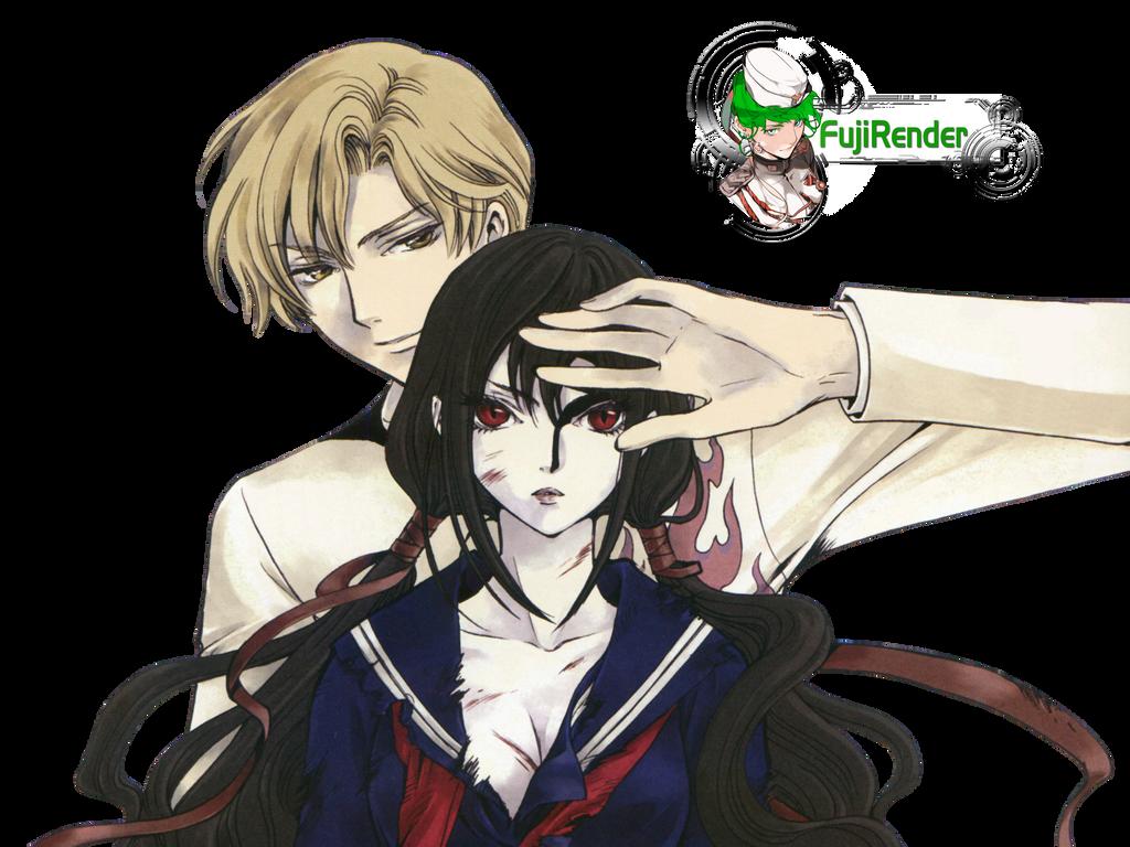 Blood C Saya And Fumito Render By Tsukito Kuja