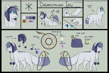 Reference Sheet: Dreamcatcher Inu by FlashOfAurora