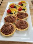 Fruit Tarts and Chocolate Cremeux