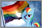 Rainbow Dash Salute to The LGBTQ by DeviantAspie