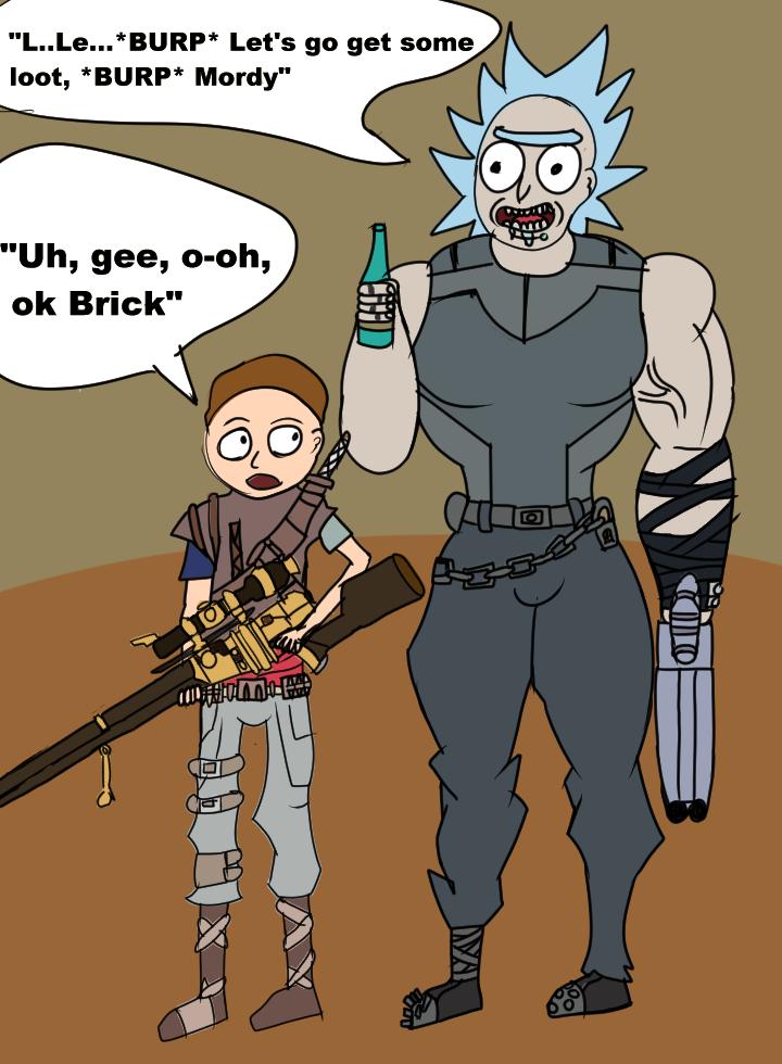 Brick and Mordy by MegaScarletsteam