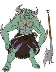 Zun the barbarian by MegaScarletsteam