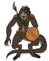 Scar the lizardfolk druid by MegaScarletsteam