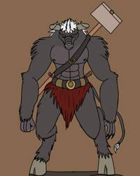 dnd Torvik, the minotaur barbarian