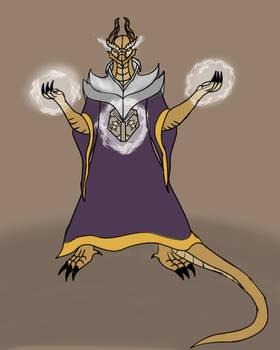 Taznaar Luxen dragonborn wizard