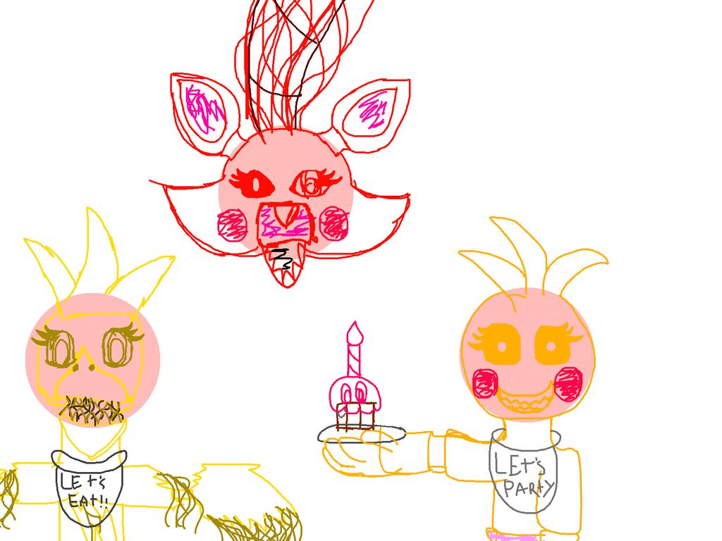 Fnaf ladies night sketch by pumpkinpatchftw on deviantart