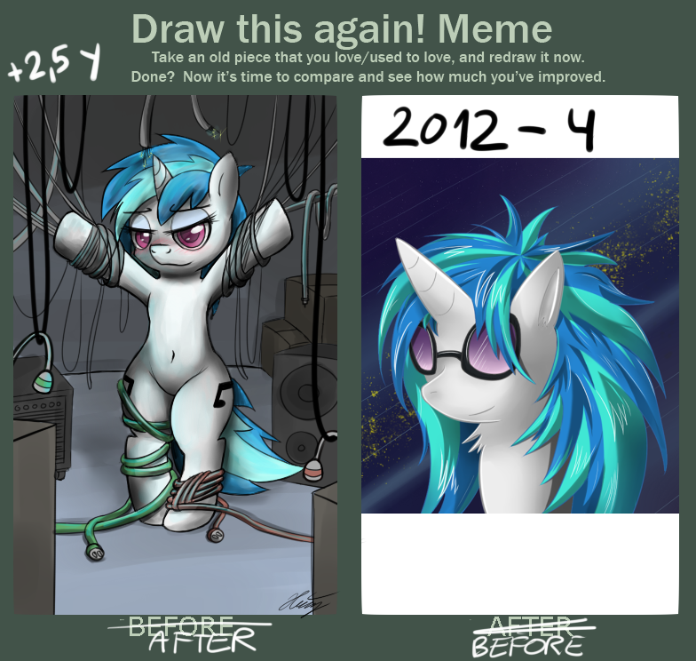 before - after vinyl scratch by TheRealPhoenix