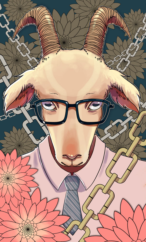 Business Goat (color) by AngieMyst