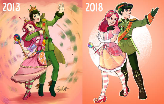 Candy and Veggies Redraw - 2013 vs 2018