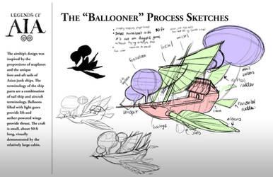 The Ballooner Process Sketches - LoA