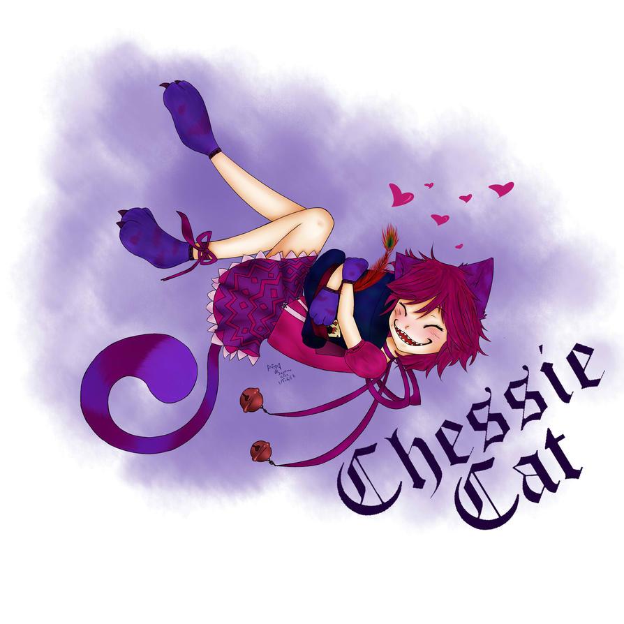 Cheshire Nekomimi - digicoloured by SweetCatMint