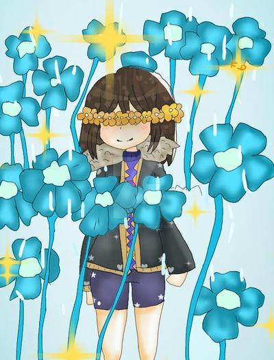 flowerFell Frisk by Dayalonsi348