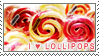 I heart lollipops stamp.