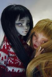 Sophie and Ruby - Monster High dolls OOAK repaint
