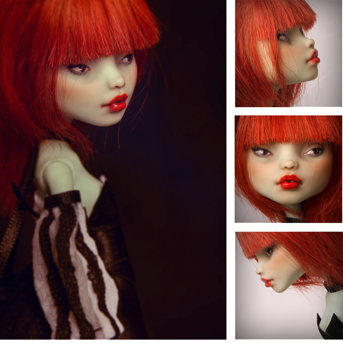 Francine portrait OOAK Monster High doll by Szklanooka