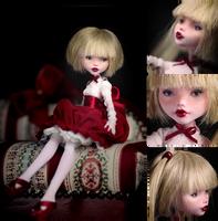 Lucy portrait OOAK Draculaura Monster High doll by Szklanooka