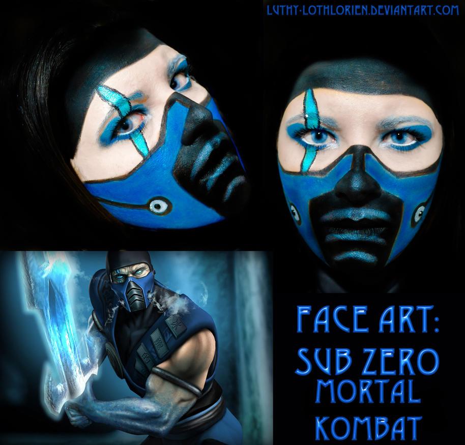 Face Art - Sub Zero (Mortal Kombat) by Luthy-Lothlorien