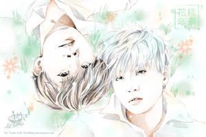 Art Trade- Suga and J-Hope by MissKongnamul