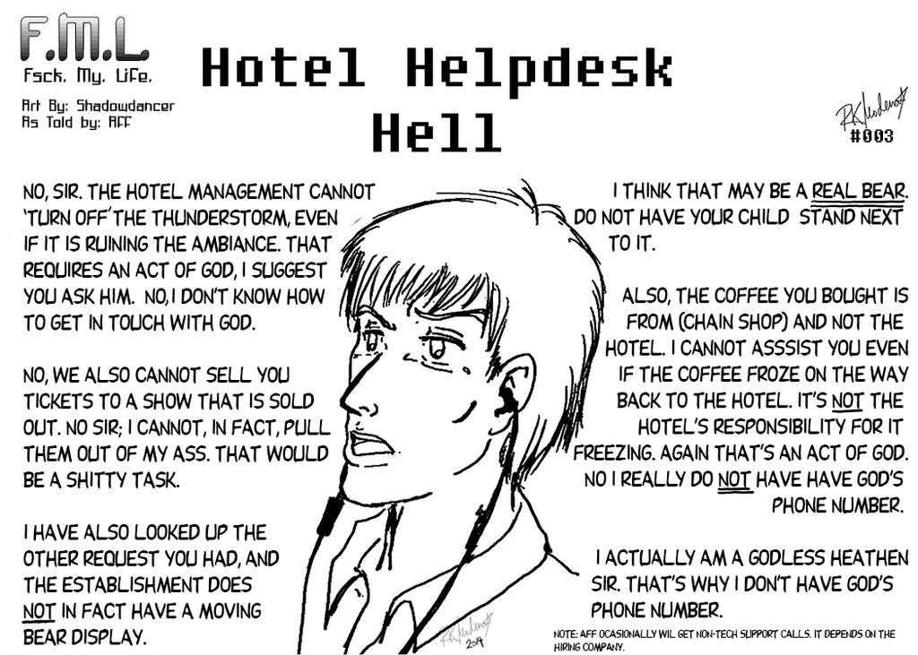 FML 3   Hotel Help Desk Hell By Cutelildrow ...