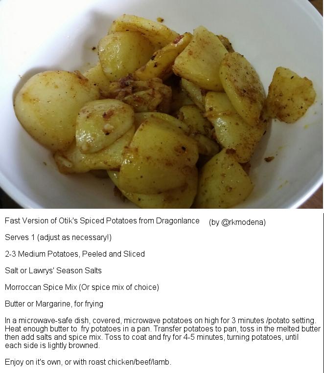 Fan Cooking Otik's Spiced Potatoes by cutelildrow
