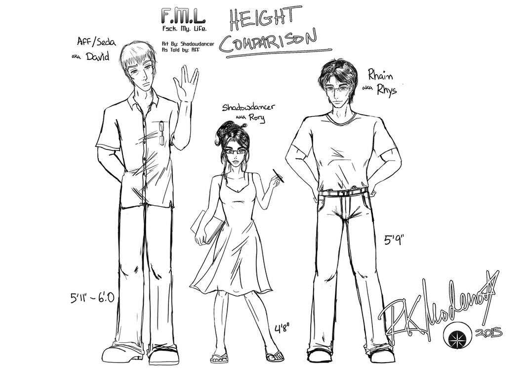 Height Comparison by cutelildrow