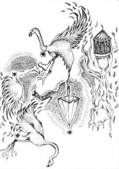 ink fantasy - birds